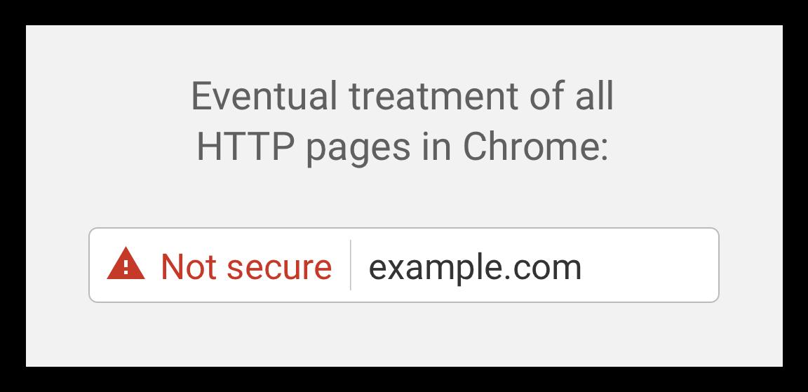 Google Chrome 70 - HTTP non sécurisé